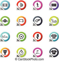 Soccer icon set - Soccer web icons for user interface design