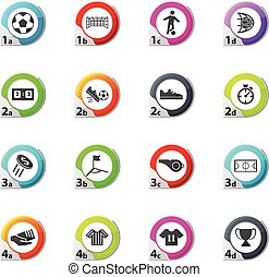 Soccer icons set - Soccer web icons for user interface...