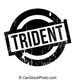 Trident rubber stamp. Grunge design with dust scratches....