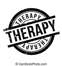 Therapy rubber stamp. Grunge design with dust scratches....