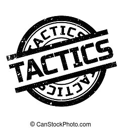 Tactics rubber stamp. Grunge design with dust scratches....