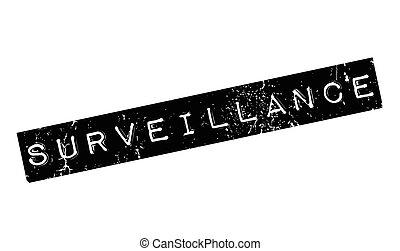 Surveillance rubber stamp. Grunge design with dust...