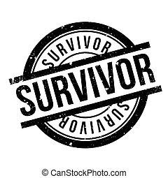 Survivor rubber stamp. Grunge design with dust scratches....