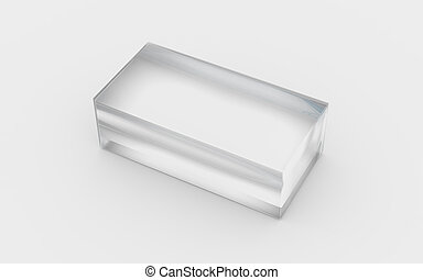 solid glass box - glass material of rectangle solid box by...