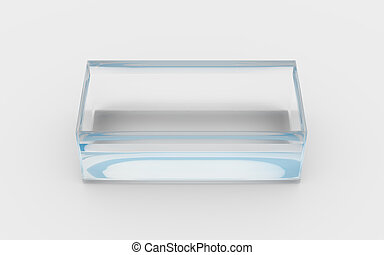 glass tray high angle - glass material of rectangle box by...