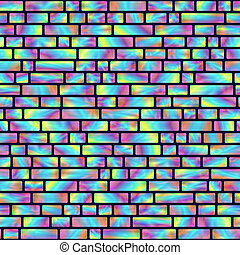 Seamless Pattern of Colored Holographic Rectangles. Creative...