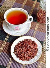 Schisandra chinensis, magnolia berry, five-flavor-fruit, wu...