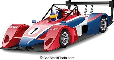Race car - Vector illustration
