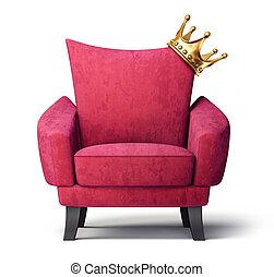 Sessel clipart  Clipart von koenig, sessel - Image, von, armchair., White ...