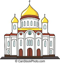 church building - The building of the Orthodox Church with...