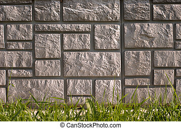 stone house foundation - Texture of stone house foundation...