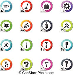 Work tools icons set - Work tools web icons for user...