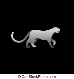 Vector illustration of gray panther.