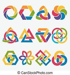 design elements. abstract symbol set. vector illustration