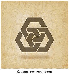 abstract interlocking hexagons vintage background. vector...