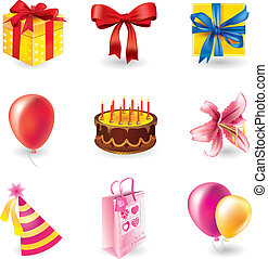 Set of holyday objects - Vector set of holyday objects