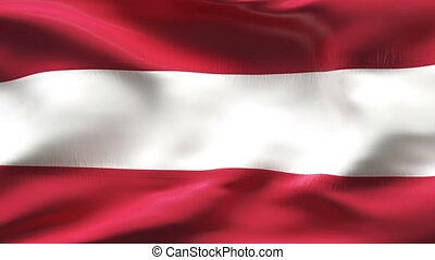 Creased latvia flag in wind - Highly detiled flag with...