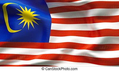 Textured MALAYSIA  cotton flag