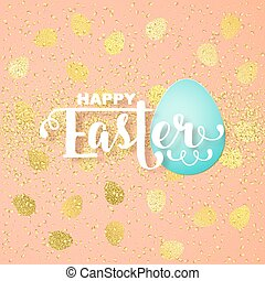 Easter card with calligraphic greeting and Easter eggs...