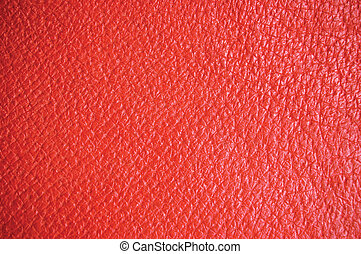 Red Leather Background - Red leather texture, wide macro,...