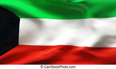 Textured KUWAIT cotton flag