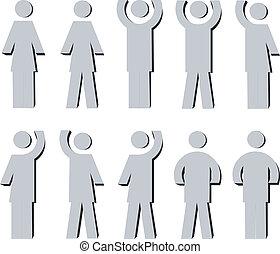 3d man set 01 - 3d man set color 01