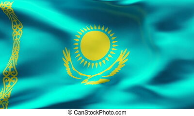 Textured KAZAKHSTAN cotton flag