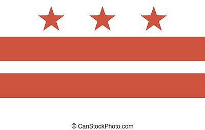 Flag of the District of Columbia Official symbol of the...