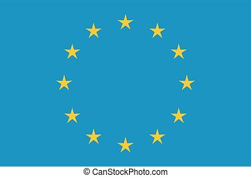 EU flag in closeup Official symbol of the state vector...