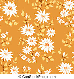 Seamless floral pattern Autumn paints Vector