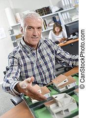 Architect hand shake