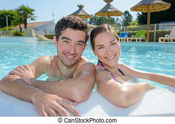 couple on a tropical holiday
