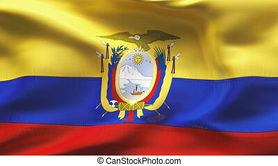 Textured ECUADOR  cotton flag