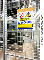 High-voltage cabin - in a separate building, this...