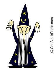 sorcerer - vector - Illustration of the magician - vector