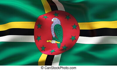 Textured DOMINICA  cotton flag