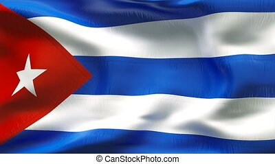 Textured CUBA cotton flag