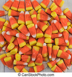 Pile of Candy Corn Close Up
