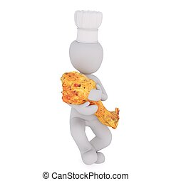 3d man with cooking 58