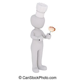 3d man with cooking 59