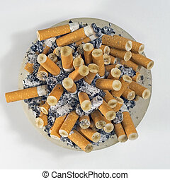 the habit of smoking cigarettes