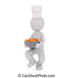 3d man with cooking