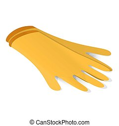 Latex gloves icon, isometric style - Latex gloves icon....