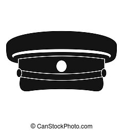Military hat icon, simple style