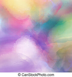 Watercolour texture - Colourful background with a...
