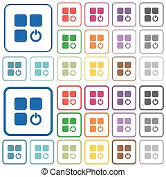 Component switch off outlined flat color icons - Component...