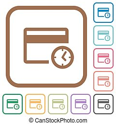 Credit card transaction history simple icons