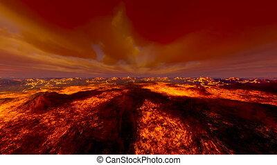 Volcano - 3D CG rendering of the volcano.