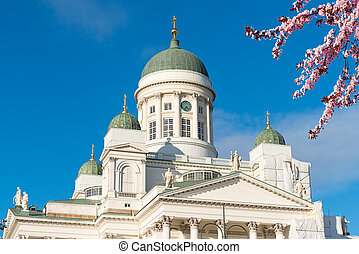 Cathedral in Helsinki at spring, Finland - Cathedral in the...