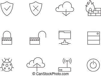 Outline Icons - Computer Network